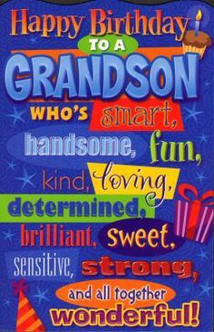 Pin by rachel valdez on greetings cards all occasions pinterest happy birthday to my loving grandson m4hsunfo