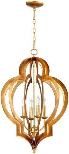 chandelier cyan design vertigo 4 light gold leaf iron new 60w candelabra cy