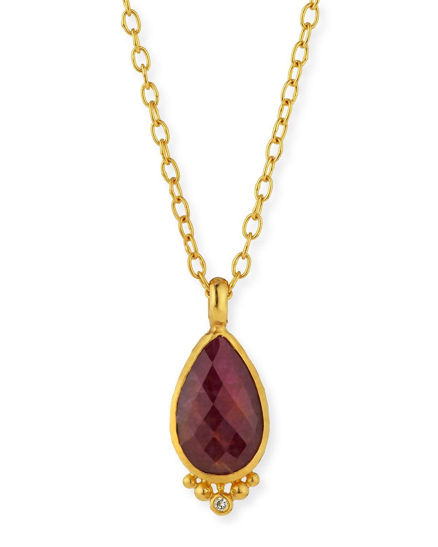 Gurhan 24k Three-Diamond Starlight Pendant Necklace KqgqDKbu