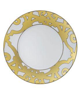 Hermes Balcon Du Guadalquivir gold porcelain tableware