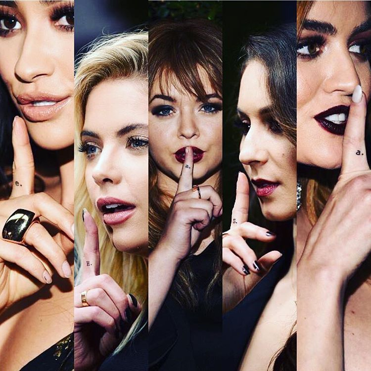 They Tattooed Their Shhh Finger Pretty Little Liars Maldosas