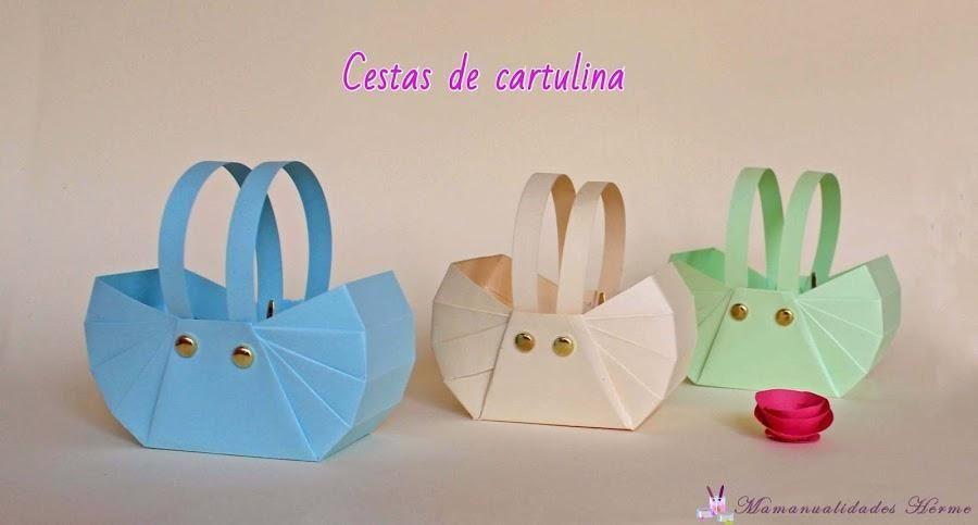 No creeréis lo fácil que es hacer cestas con cartulinas | Cestas ...