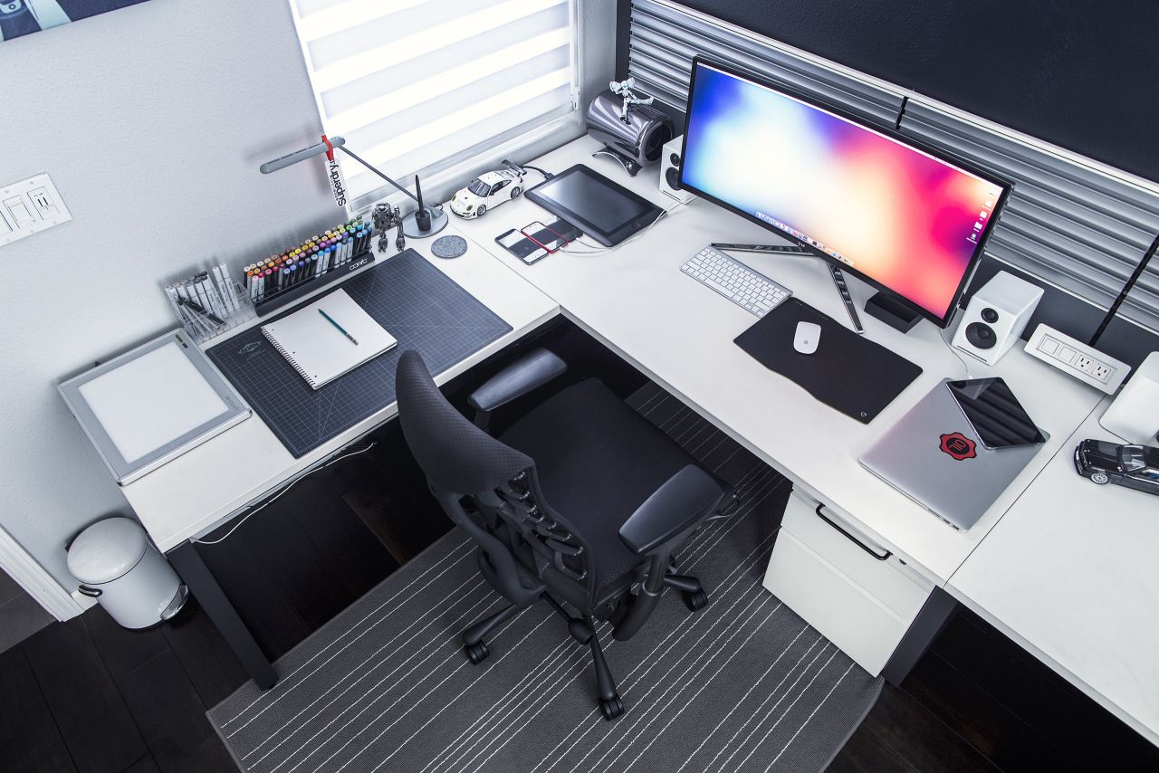 Ultra Wide Setup By Mark Jardine Office Spaces Spaces