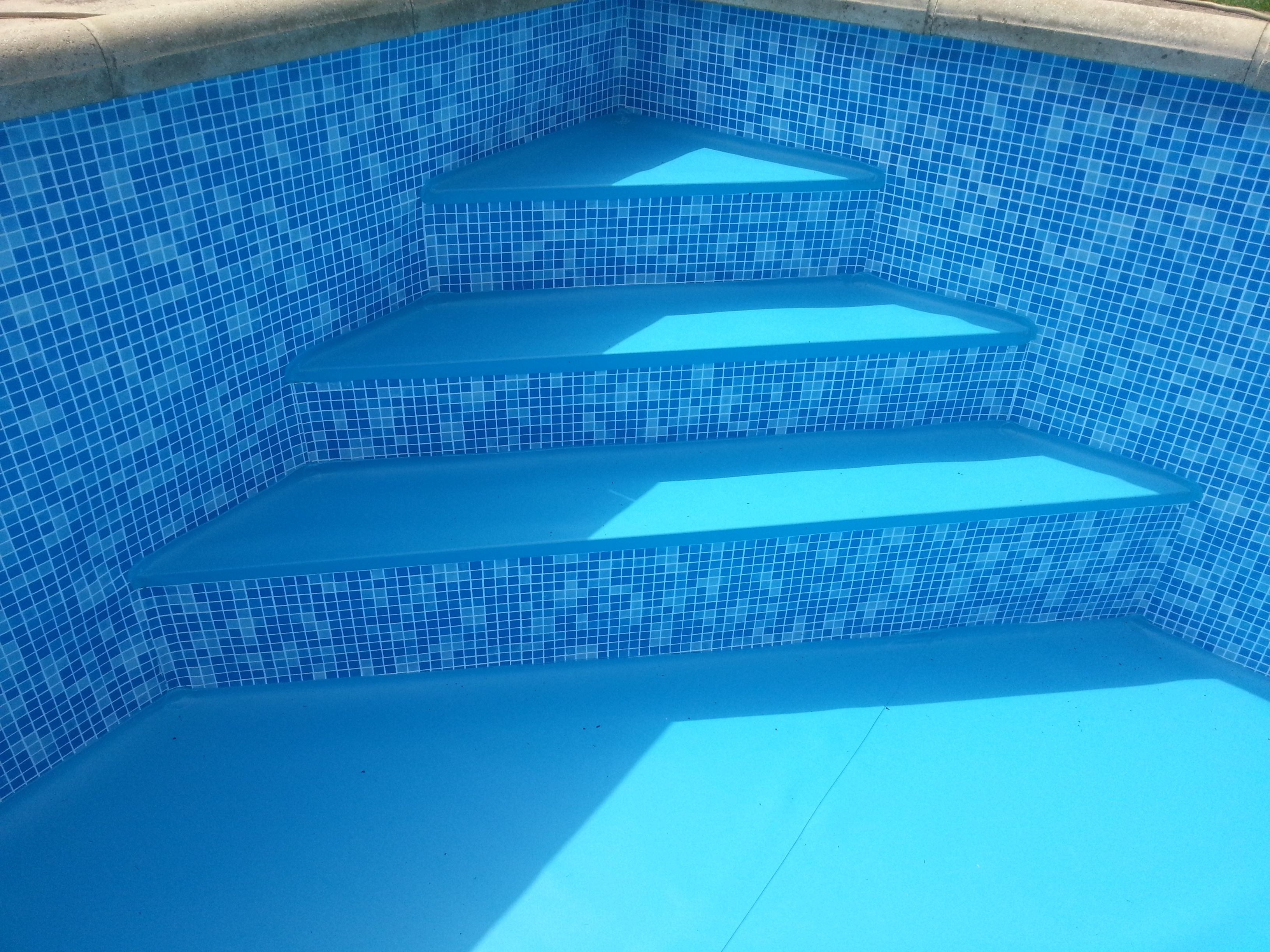 Swimming Pools Water Feature Mozaik En Donkerblauw