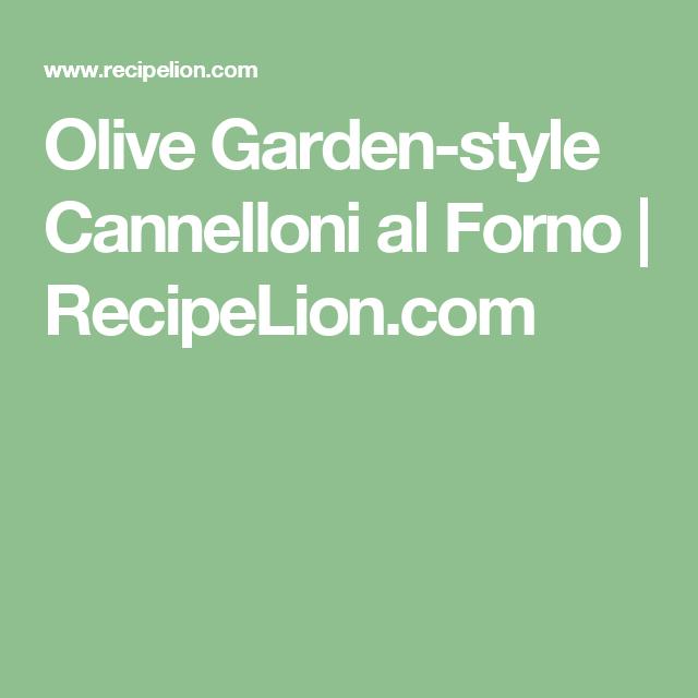 Olive Garden Style Cannelloni Al Forno Recipe Olive Garden Fettuccine Alfredo Recipe Fettuccine Alfredo Recipes Olive Garden Recipes