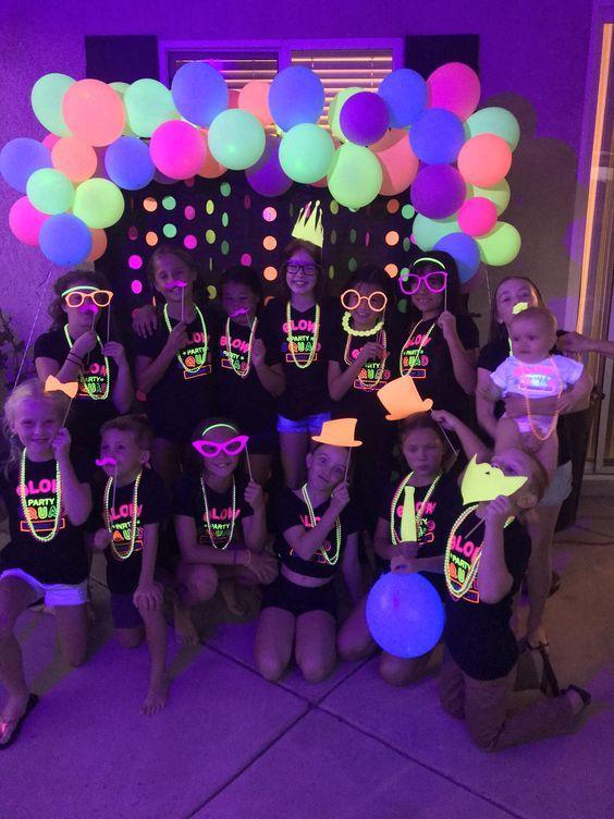 Festa do pijama neon