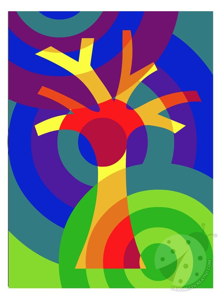 Scuola Primaria Colori caldi e freddi | popart | Pinterest | Baum ...