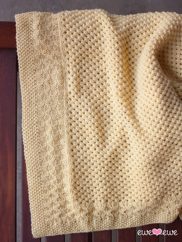 NobleKnits.com - Ewe So Sporty Buttercup Baby Blanket Knitting ...