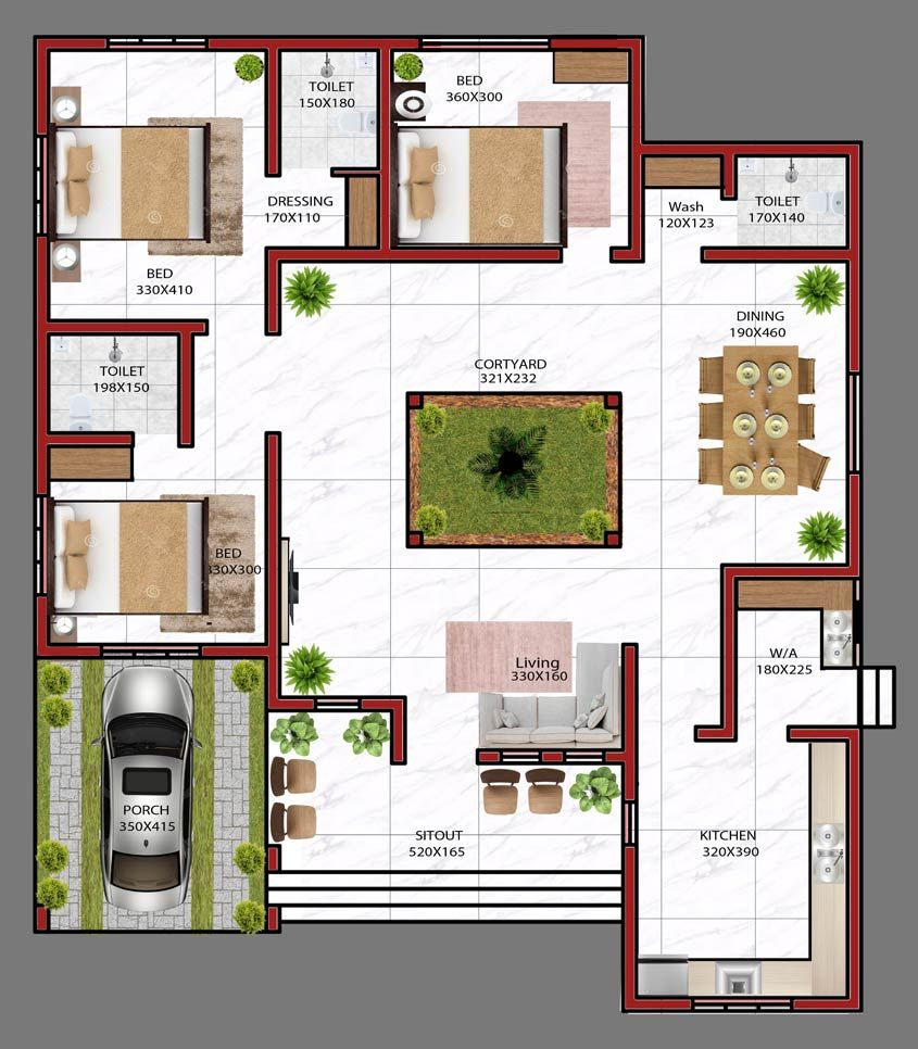 28 Lakhs 3 Bedroom NRI Home Design with Free Home Plan