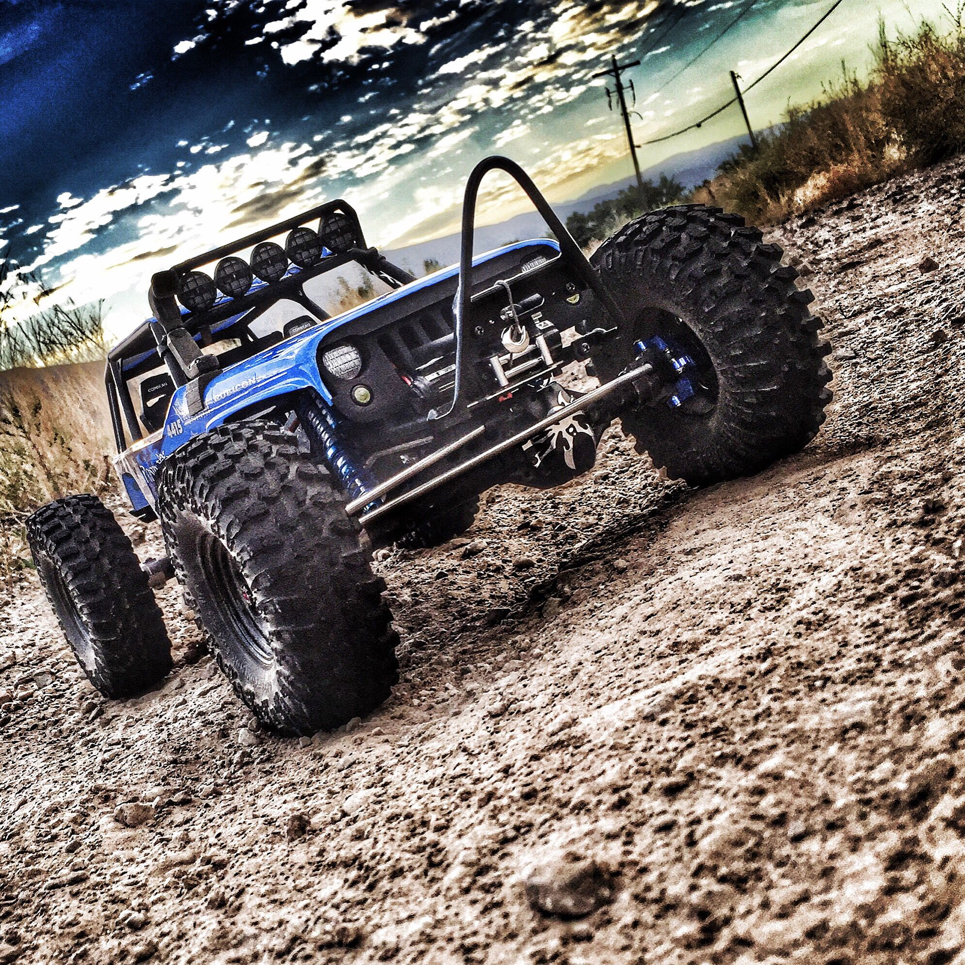 Axial Wraith With Some Knight Customs Parts Trophy Truck Rc Off Road