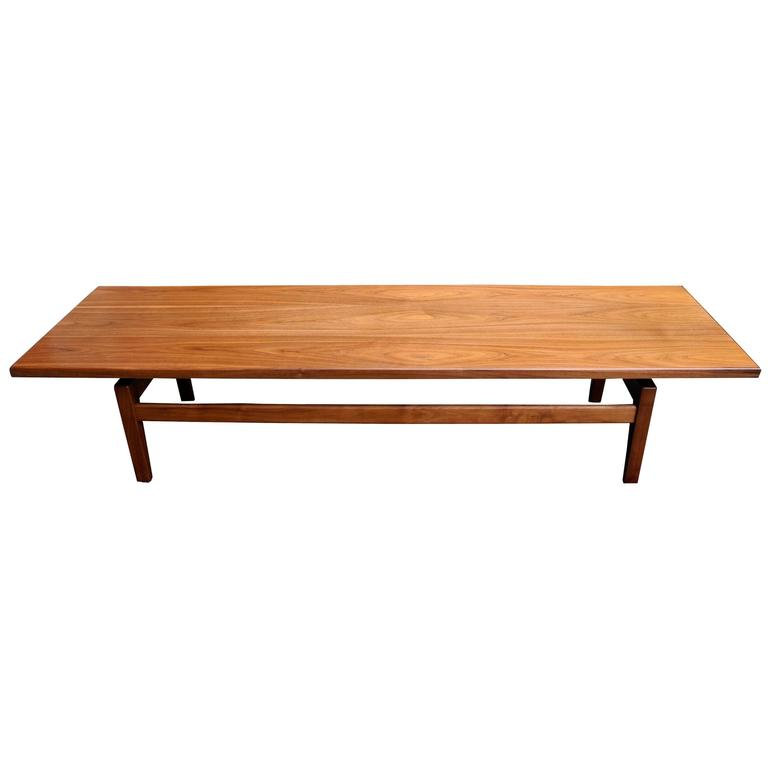 Mid Century Modern Solid Walnut Low Coffee Table Or Long Bench By Jens Risom Modern Wood Coffee Table Low Coffee Table Coffee Table Wood