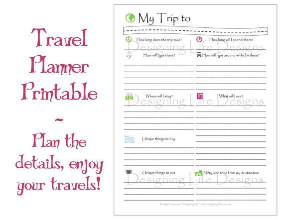 Vacation Travel Planner Printable PDF Sheets - My Trip To Anywhere -  Vacation Travel Planner Printable PDF Sheets – My Trip To Anywhere  - #anywhere #BackpackingEurope #CruiseTips #pdf #planner #printable #sheets #travel #TravelDeals #TravelHacks #TravelItineraryTemplate #TravelTips #Trip #Vacation