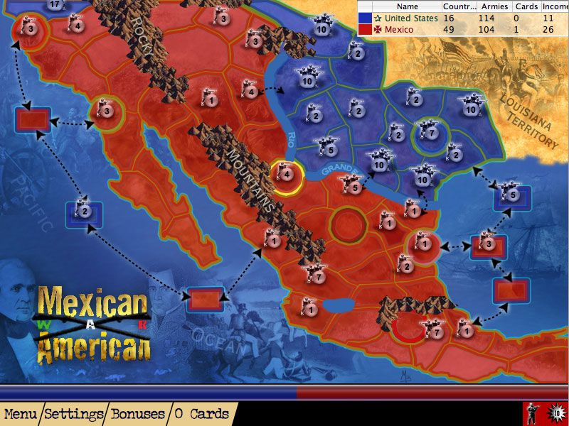 The MexicanAmerican War Marked The First US Armed - Map of us and mexico 1846