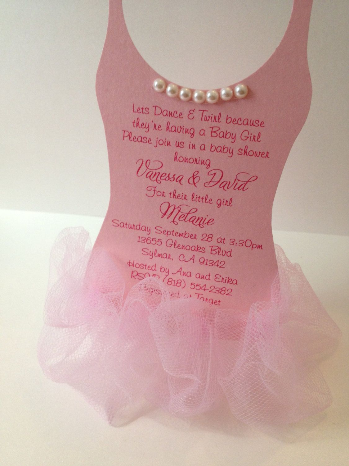 new to anaderoux on etsy tutu baby shower invitation top only usd