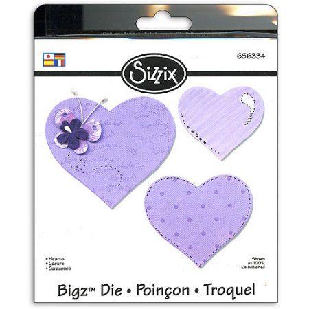 Sizzix Bigz BIGkick/Big Shot Die, Hearts