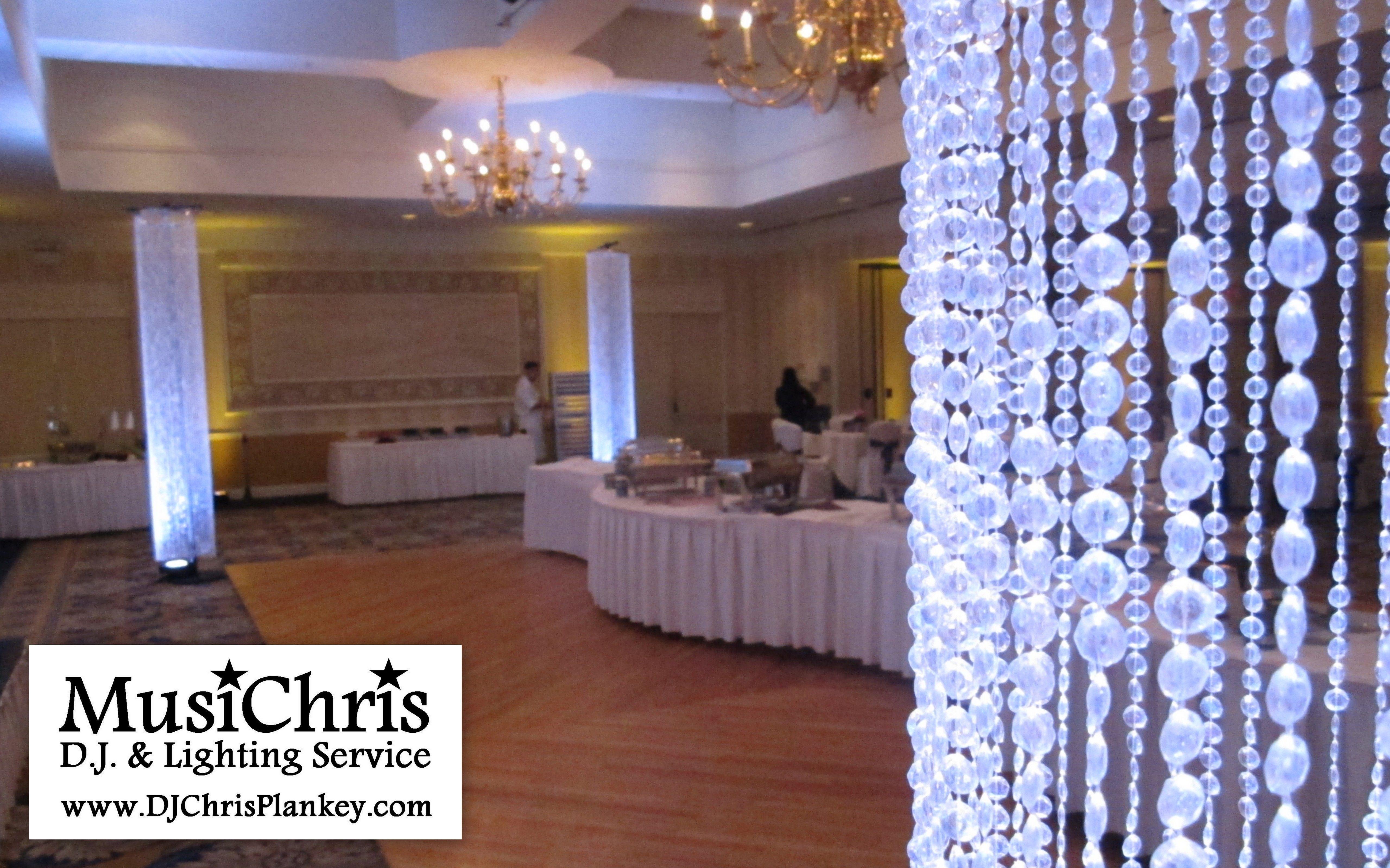 Crystal Columns Unique Wedding Reception Decor Bling Elegant Classy Ballroom Wedding Decor Elegant Winter Wedding Decorations Wedding Decorations