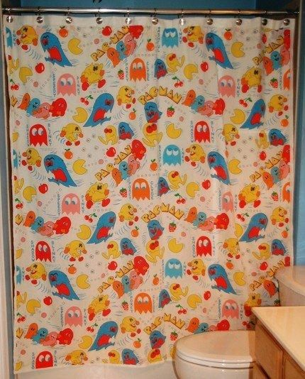 Pac Man Shower Curtain If My Man Cave Has A Shower, This Will Be The Shower  Curtain.
