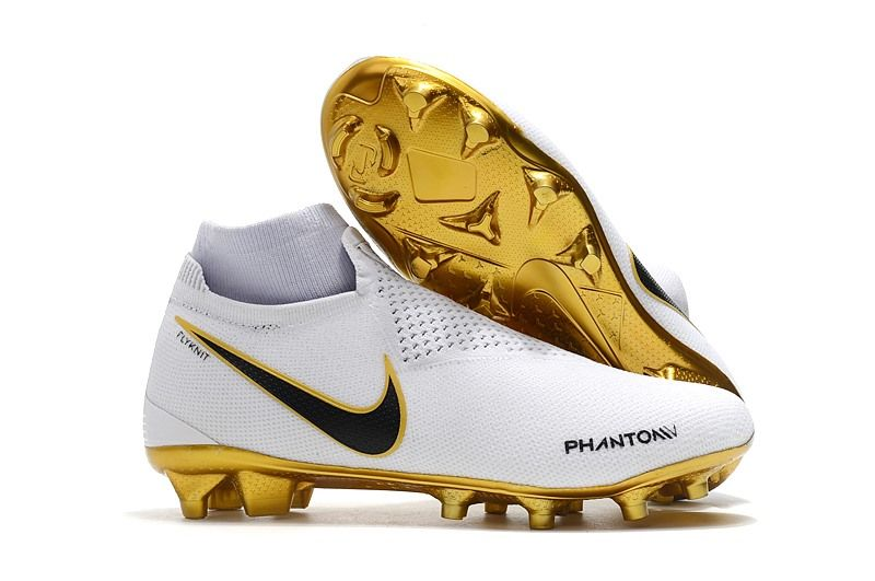 1dc7c0a2 Nike Phantom Vision Elite Dynamic Fit FG Cleat - White Gold | Soccer ...