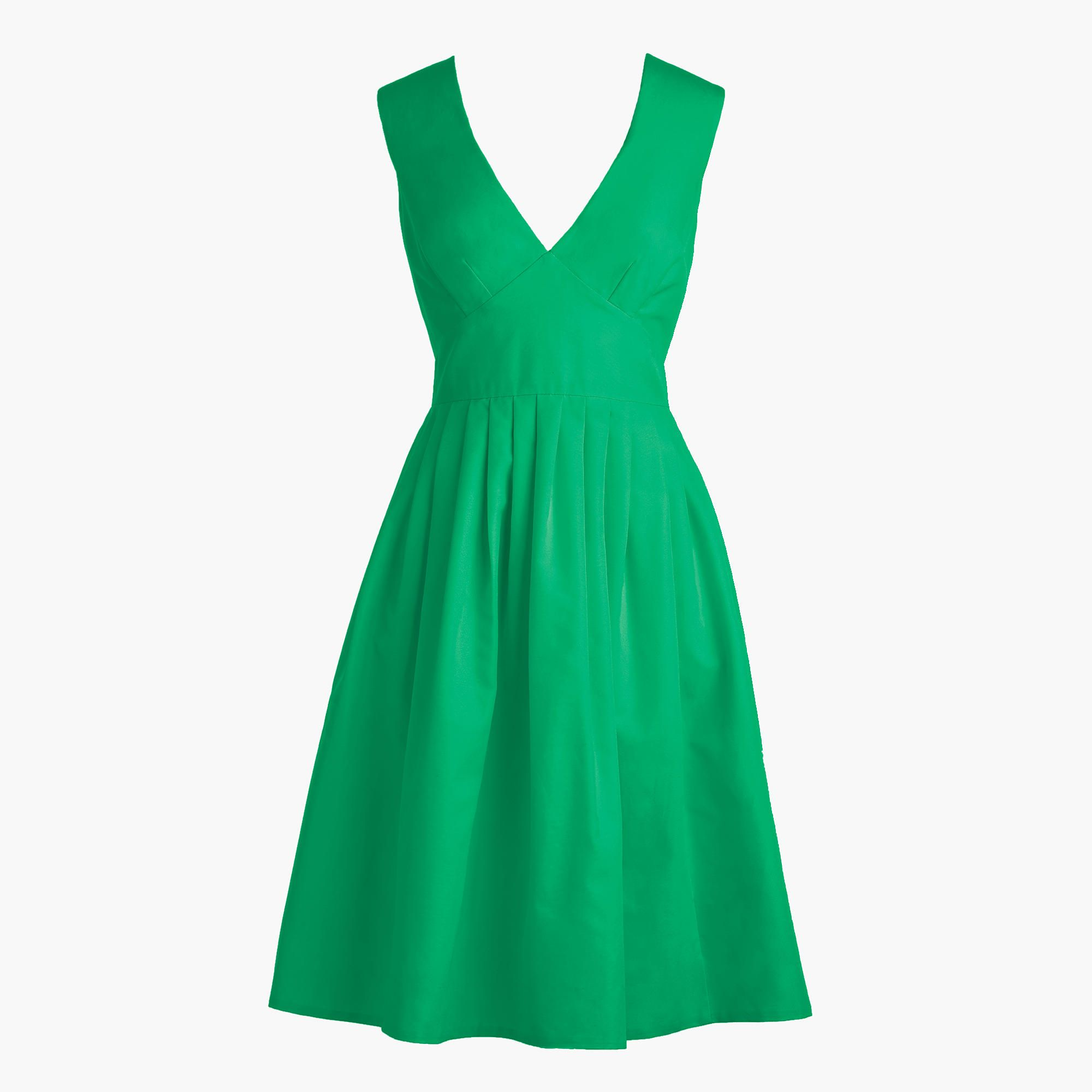 J.Crew Womens V-Neck A-Line Dress In Faille