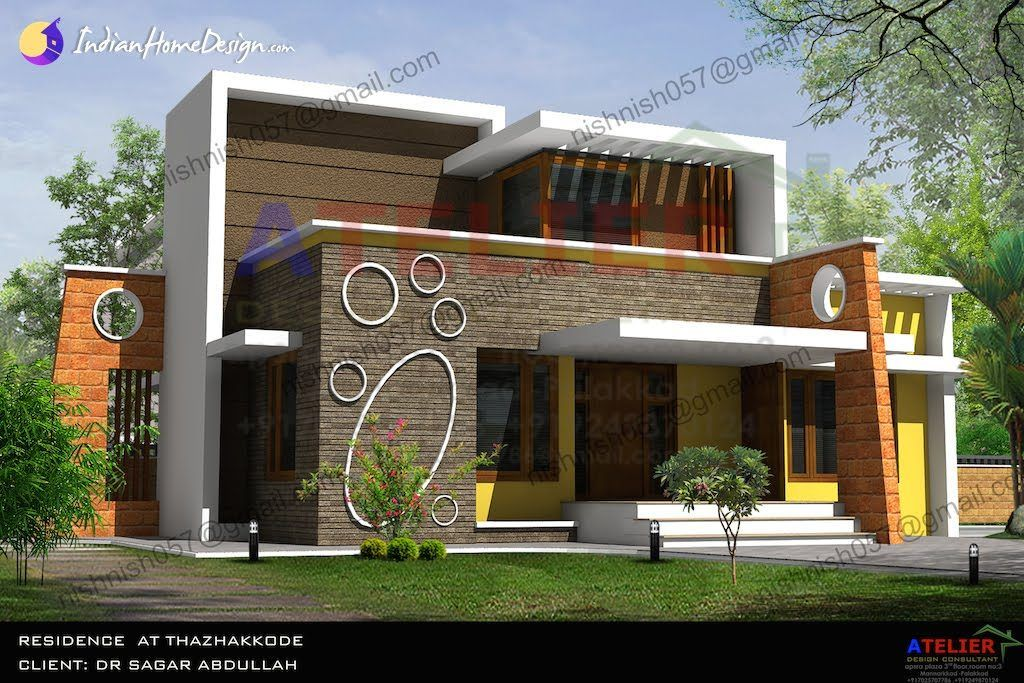 Single Floor Contemporary Indian Home Design In 1350 Sqft By Aetlier Design  Consultant
