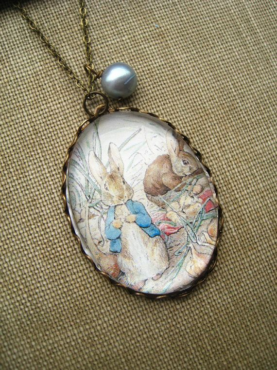 27c2c0f127bb Peter Rabbit and Benjamin Bunny Necklace by fairytalesbybluebird Benjamin  Bunny