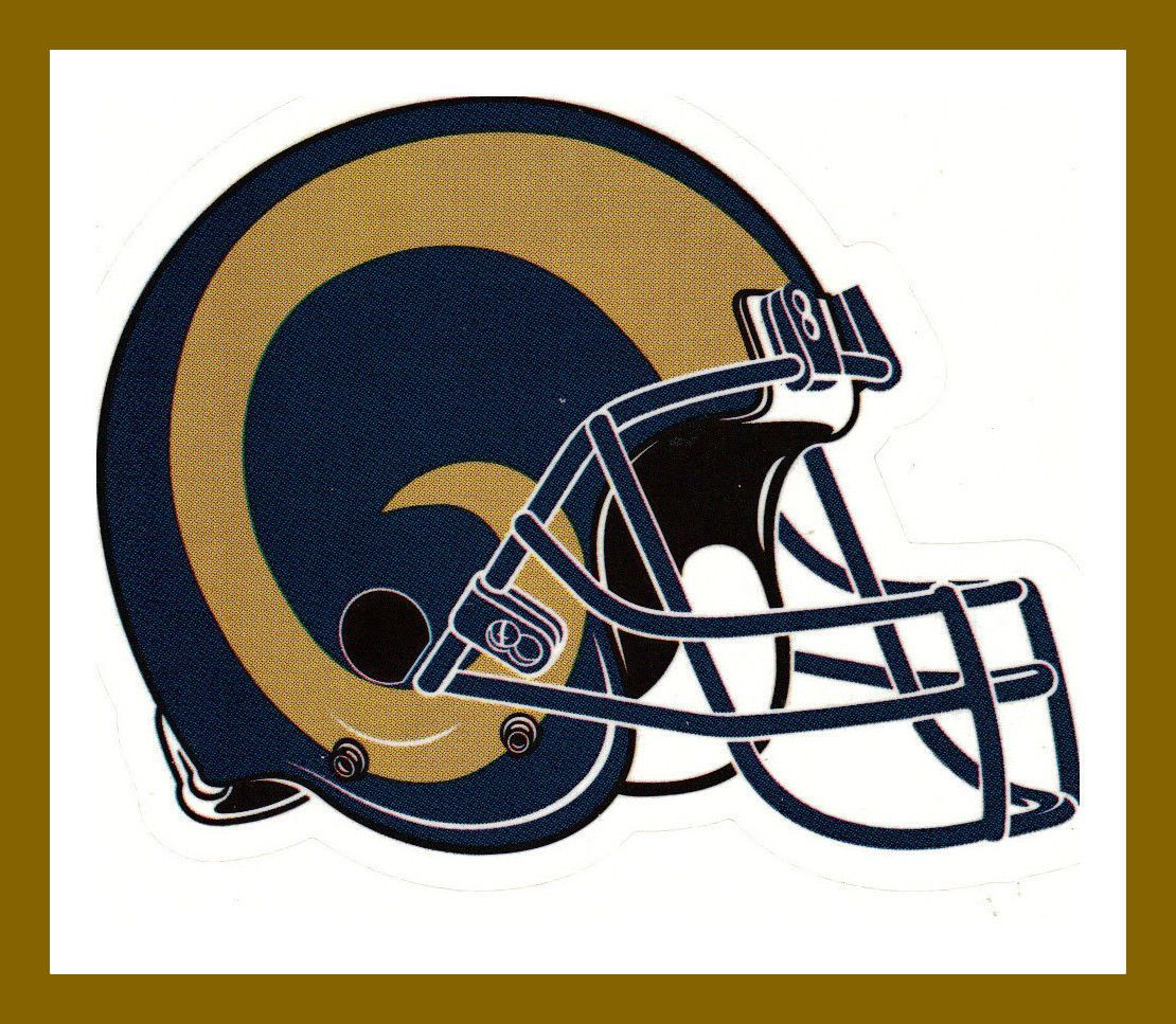 Los Angeles La Rams Football Nfl Helmet Decal Sticker Team Logo Bogo 25 Off In 2020 Rams Football Nfl Teams Logos La Rams Football