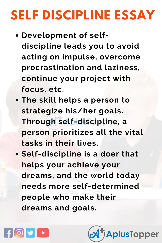Essayonimportanceofselfdiscipline Importanceofselfdisciplineessay Aplustopper Self Discipline Essay On In Student Life