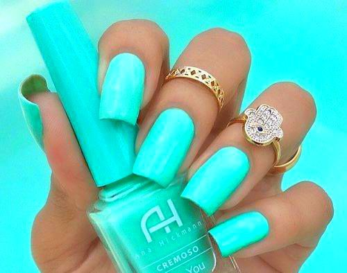 Pinterest Neon Nails | Neon Teal Nails Pictures, Photos, and Images ...