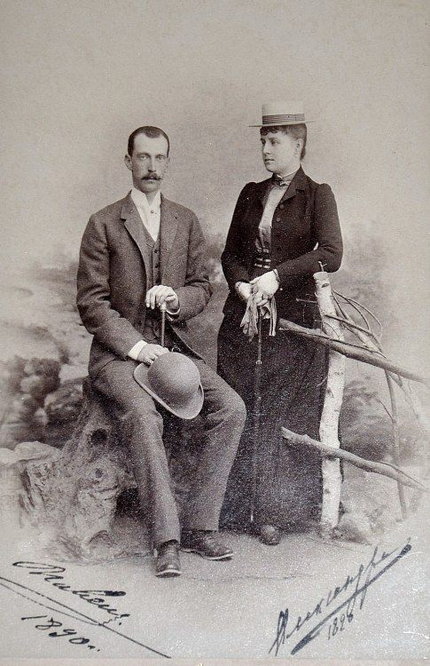 """""""A happy couple - albeit for only a short time - Grand Duke Pavel Alexandrovich and Grand Duchess Alexandra Georgievna in 1890 """""""