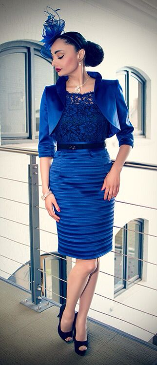 Fabulous new royal blue outfit available soon.  We hope you like this one for your special occasion! #weddings