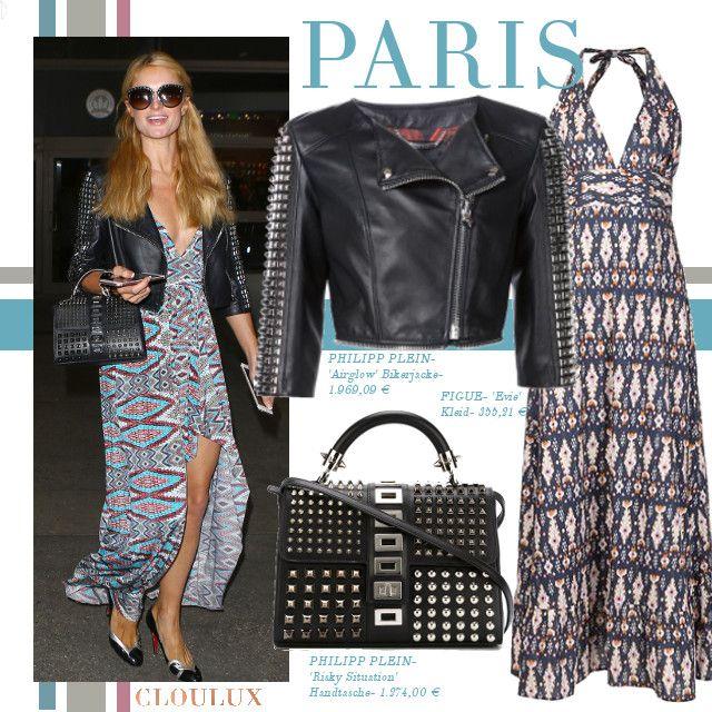 Sommerlich und leger zeigt sich Paris Hilton in diesem schönen Sommerkleid! Dazu kombiniert sie eine coole Bag von Philipp Plein