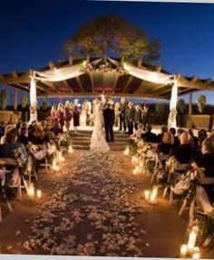 Outdoor And Nighttime Wedding Inspiration