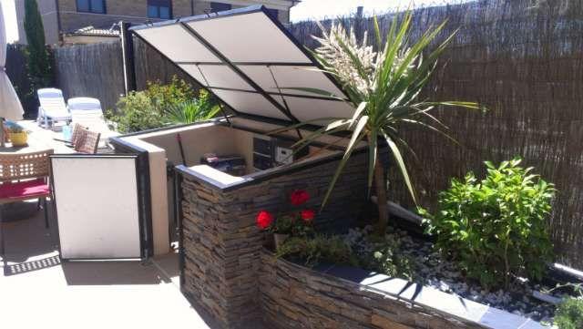 Caseta de obra para depuradora y utensilios garden for Casetas para patios