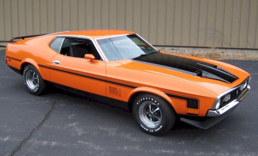 Orange 1971 Mustang Fastback … | Pinteres… Mustang Mach 1 Fastback 1971