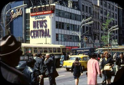 The north west corner of State and Randolph, 1965, Chicago