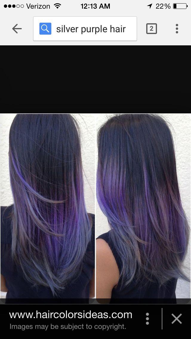 Purple Tipped Hair Purple Hair Silver Purple Hair Long Hair Styles