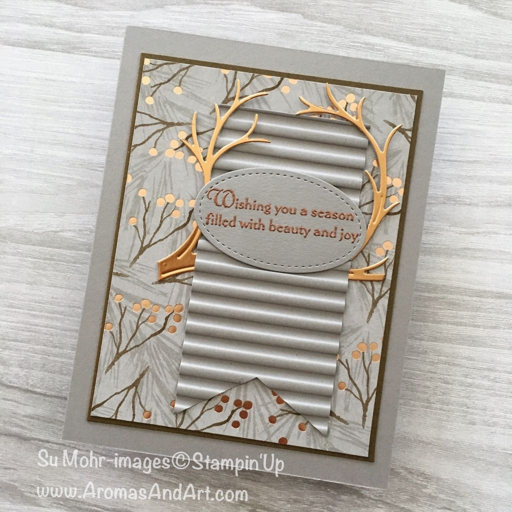 Two Joyous Noel Copper Foil Christmas Cards Su 2018 19 Holiday