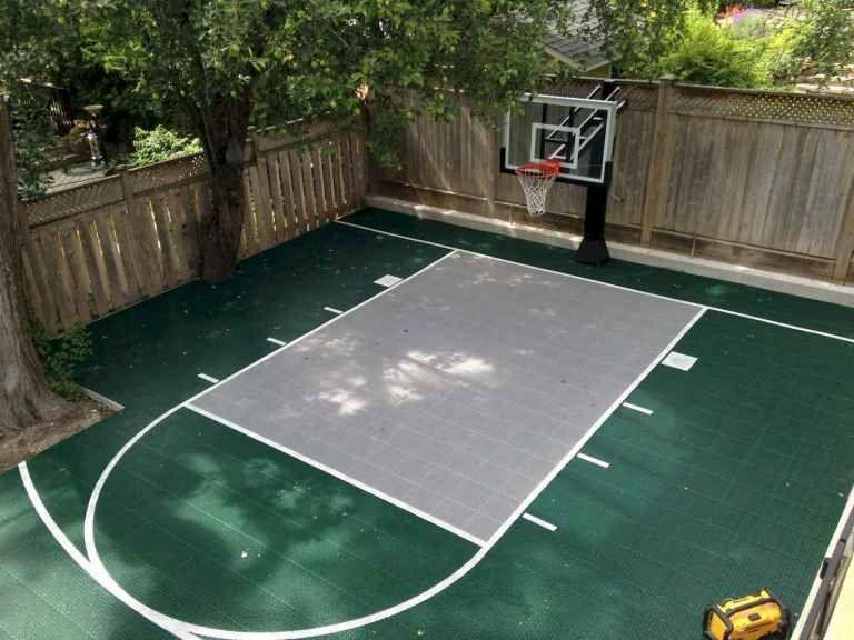 27 sport court backyard ideas (19) Basketball court