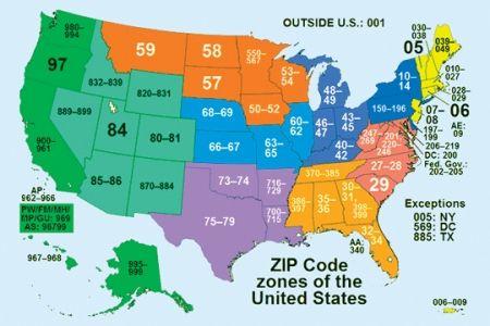 Us Postal Service Zip Code Map United States ZIP Code Map | There are about 43,000 ZIP codes