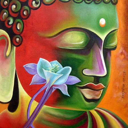Resultado de imagen para buddha paintings by indian artists