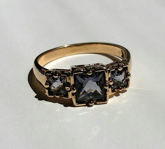 Vintage Iolite Sterling Ring Size 9 by GlowingEmpire on Etsy, $120.00