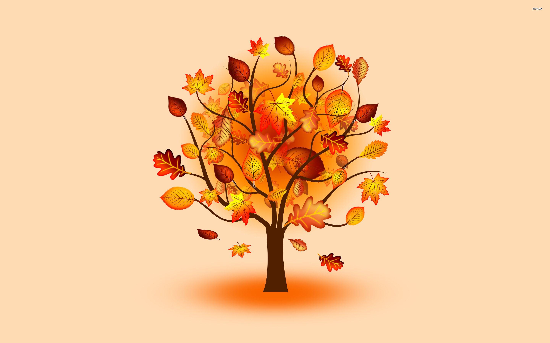 Настроения, дерево с осенними листьями картинка для детей