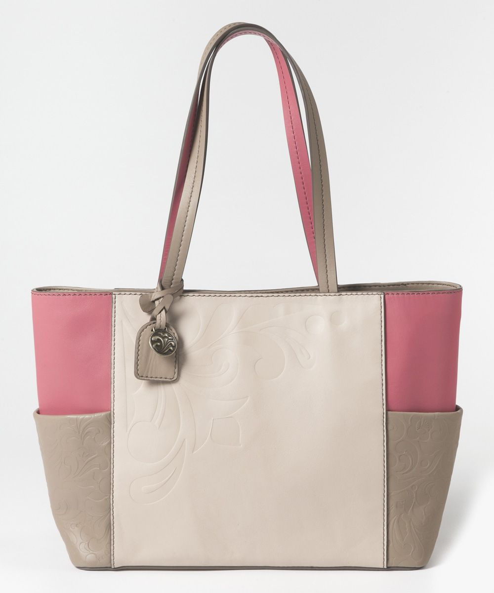 Jim Shore Coral & Frappe Color Block Jasmine Tote | zulily