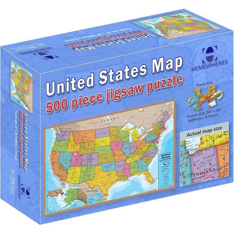 500 piece usa puzzle Usa puzzle, Jigsaw puzzles, Puzzle