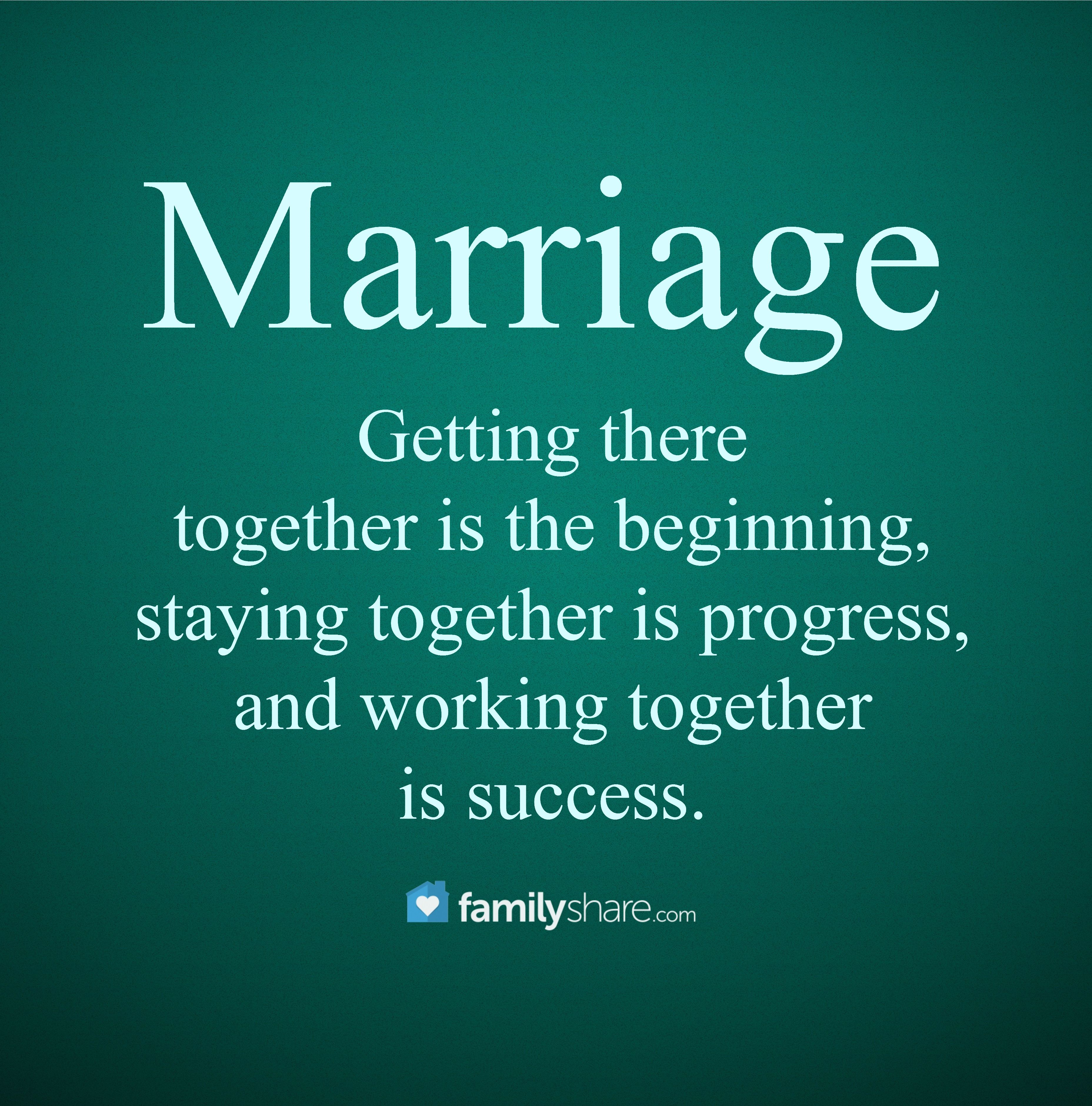 Getting there together is the beginning, staying together