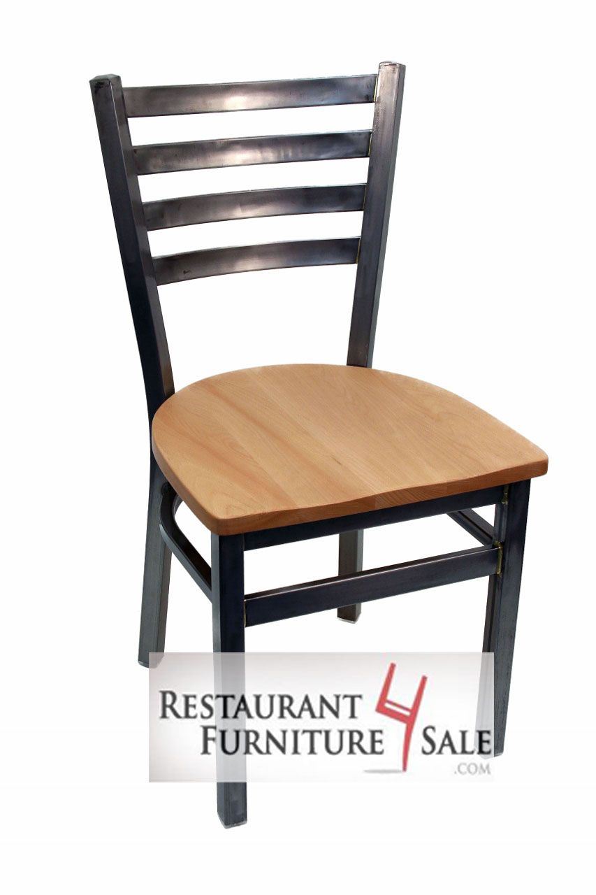 Our Industrial Looking Clear Coat Metal Restaurant Chair
