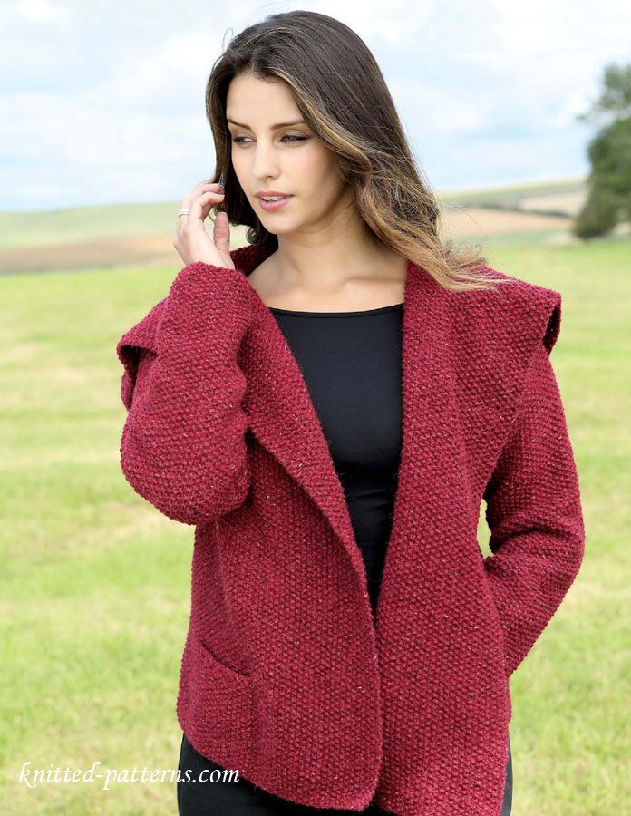 Womens Jacket Knitting Pattern Free Sticka Pinterest Knitting