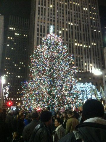 """New blog post! """"Little Jew's First Christmas: A Poem."""" A heartwarming story, and it's up now at http://jyssica.blogspot.com/    Also, this is the NYC Rockefeller tree."""