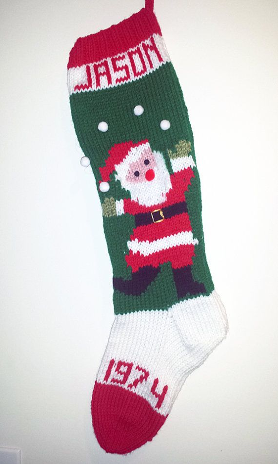 Vintage Knitted Christmas Stocking Juggling Santa by tracyward ...