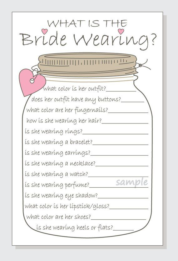 photo relating to Bridal Shower Printable Games named What is the Bride Donning? Printable Playing cards - Bridal Shower